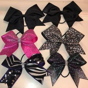 Set of 6 Cheerleading Bows